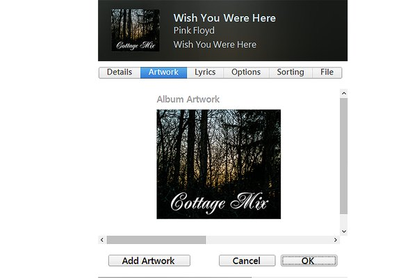 Add your own artwork to any song in iTunes.