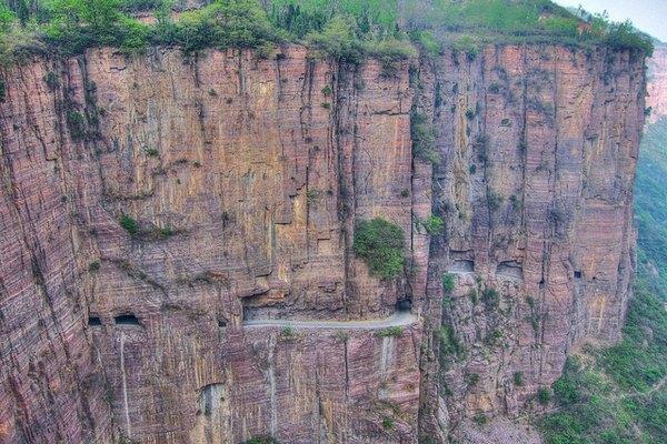 Imagen aérea del Túnel de Guoliang