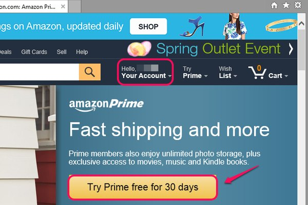 Sign up for Amazon Prime for free for 30 days.