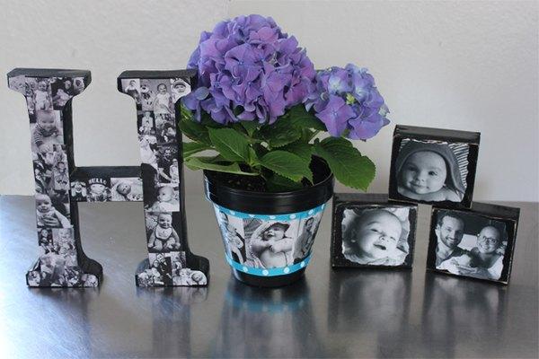 Regalos de fotografías personalizadas terminados.