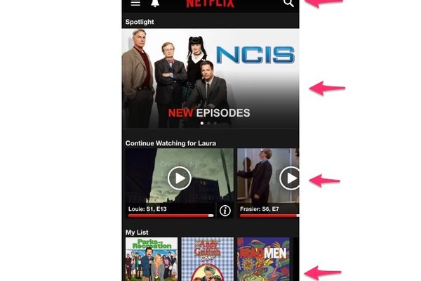Explorar títulos de Netflix