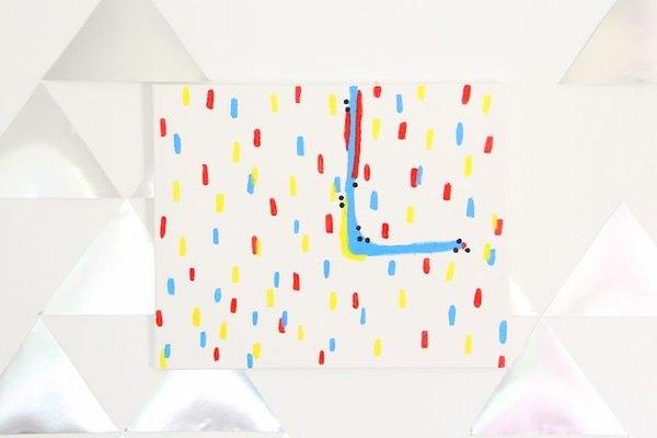 Este es un proyecto artístico fácil de hacer y agradable para los chicos que los padres también podrán disfrutar.