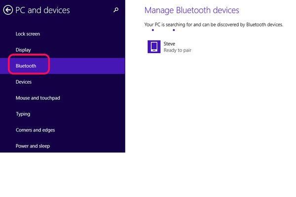 Manage Bluetooth devices.