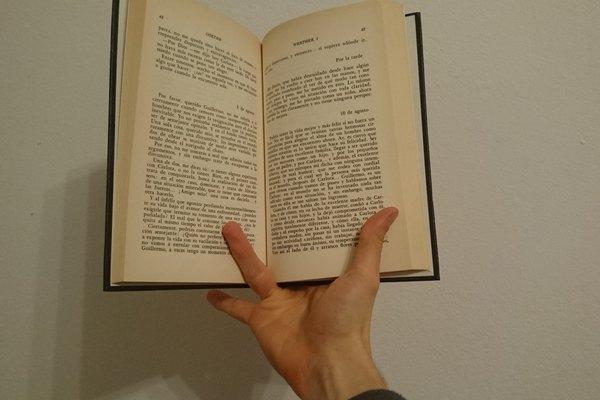 Este es un buen método cuando utilizas un libro grande.