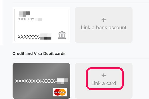 Add or remove a credit card from your PayPal account.
