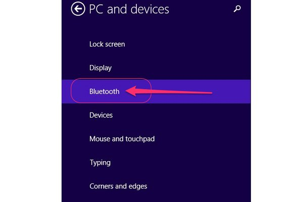 Open the Bluetooth settings panel.