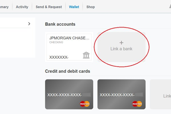 Link bank account to PayPal