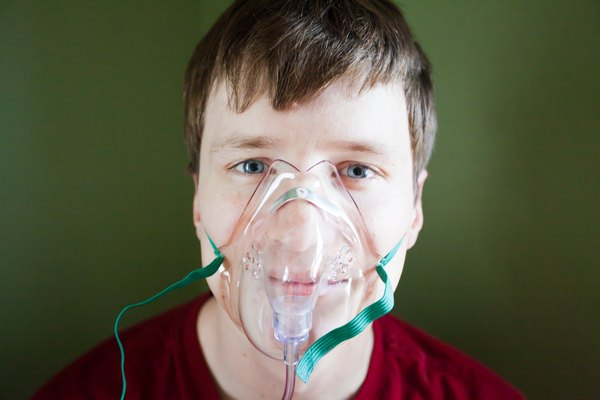 Choose a non-rebreather mask (direct oxygen only) for COPD patient if shortness of breath is moderate to severe with asthma (lung disorder generally caused ...  sc 1 st  Healthy Living & How to Give Oxygen to COPD Patients | Healthy Living