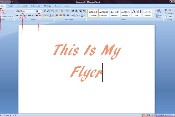 how to make a flyer on microsoft word 2007