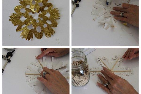 Guirnalda de copos de nieve hecha por tu cuenta