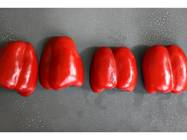 Putting the cut side down steams the peppers to ensure even cooking.