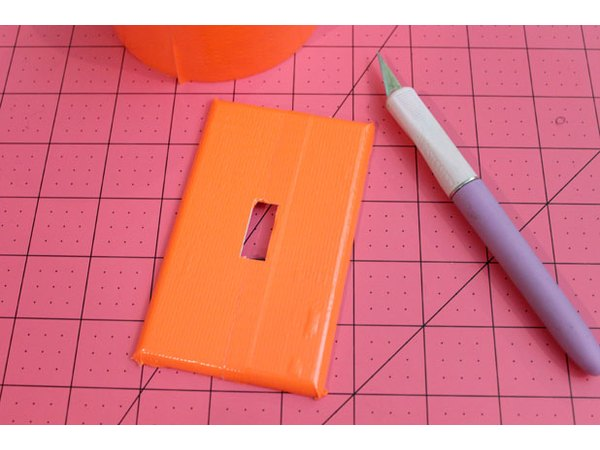 Cover with orange duck tape