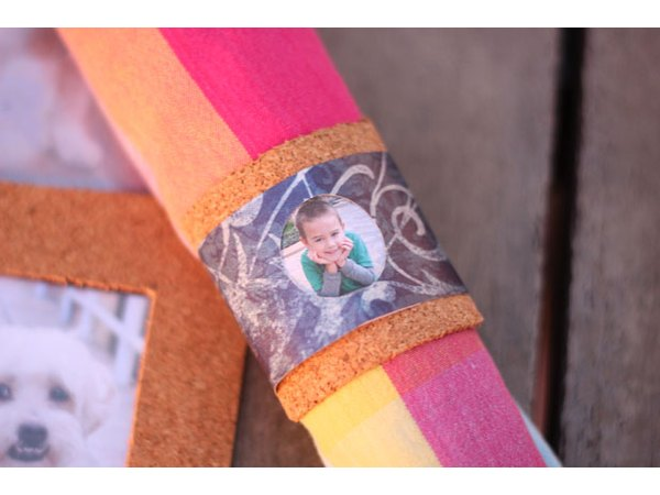 Matching photo napkin ring
