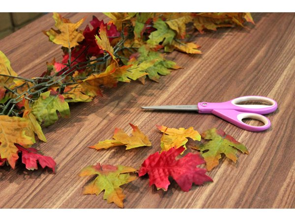Cut artificial leaves