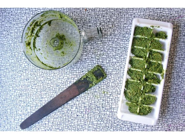 You'll thank yourself for preserving these tasty, vitamin-packed cubes of kale pesto.