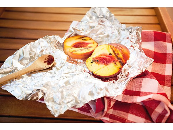 Aluminum foil can also be handy for grilling fruit.
