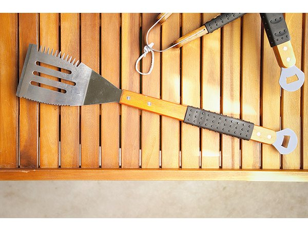 The angled blade of a spatula turner will help cleanly flip your grilled items.