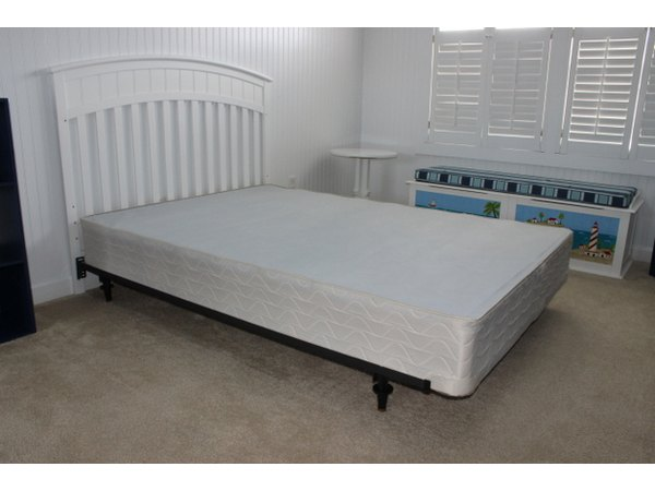 The box-spring serves as a sturdy base for the mattress