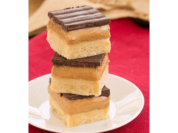 Peanut butter, chocolate and shortbread team up for tempting treat.