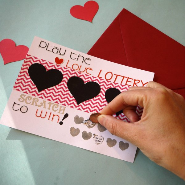 25 Easy Diy Valentines Day Gift And Card Ideas: DIY Scratch-Off Valentine's Day Card