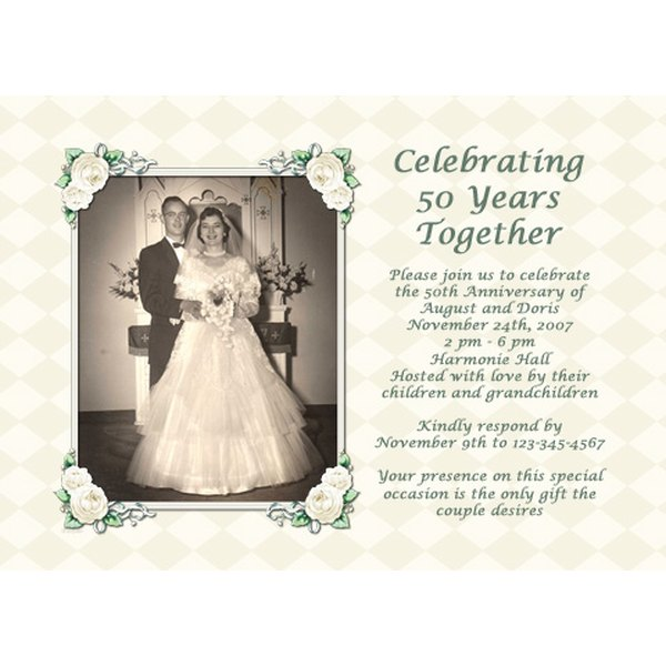 50th Wedding Anniversary Invitation Ideas: Ideas For A 50th Wedding Anniversary Invitation