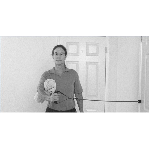 Using an Exercise Band to Rehab a Shoulder