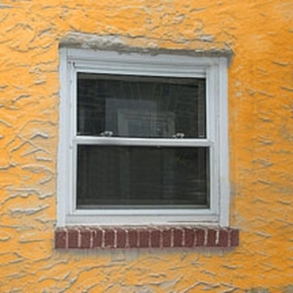 A window with trim is the easiest to remove.