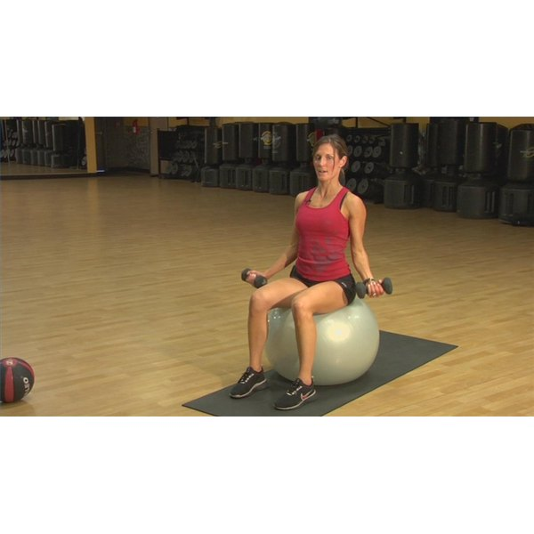 An exercise ball can help you work your core muscles.