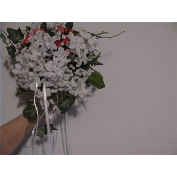 Small flower cascade petite bride bouquet.