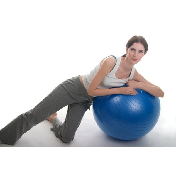 Exercises that use exercise balls to focus toning on the core work well to help lose fat.