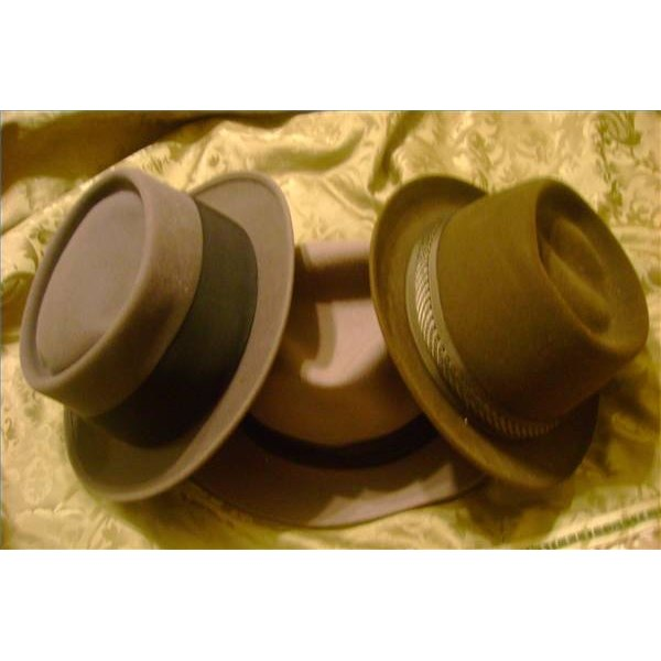Felt hats are relatively easy to shape