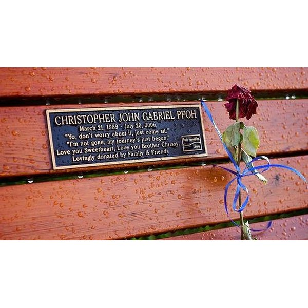 How To Get A Memorial Bench