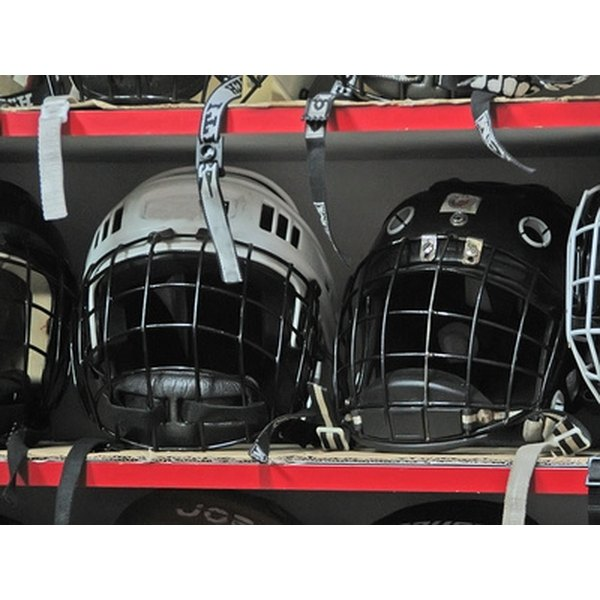 Safely cleaning hockey equipment