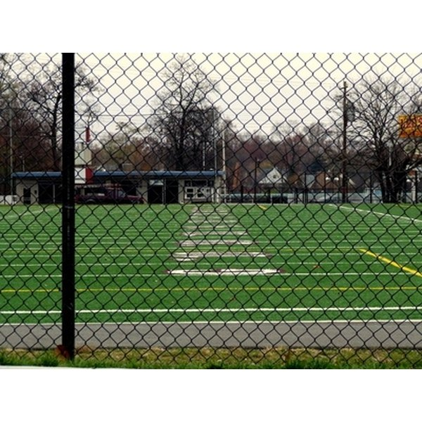 Lacrosse is usually played on a football field.