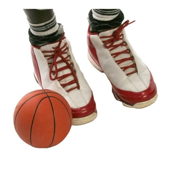 Break in basketball shoes before use in competition.