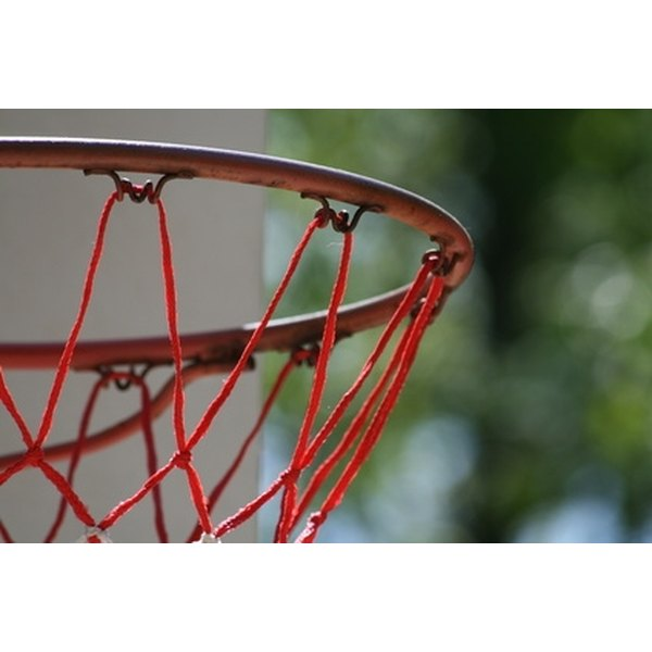 A wooden pole is an easy and inexpensive way to mount a basketball pole.