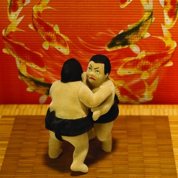 Sumo wrestlers weigh several hundred pounds.