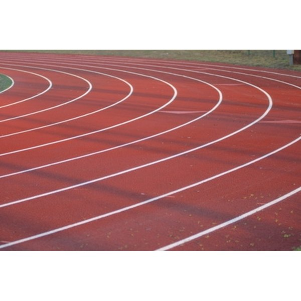 Perform your training drills on a clay running track.
