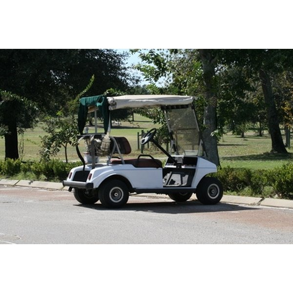Golf carts use rechargeable batteries for their power.