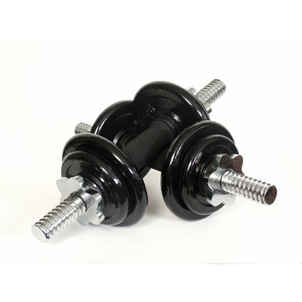 You can make your own adjustable dumbbells to strengthen the power of your workouts.