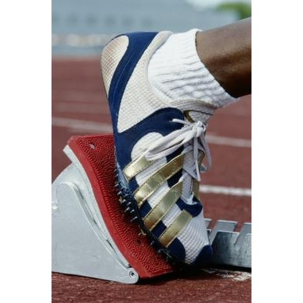 Track spikes are lighter and more flexible than traditional training shoes.