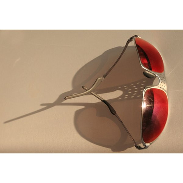 Red-tinted sun glasses.