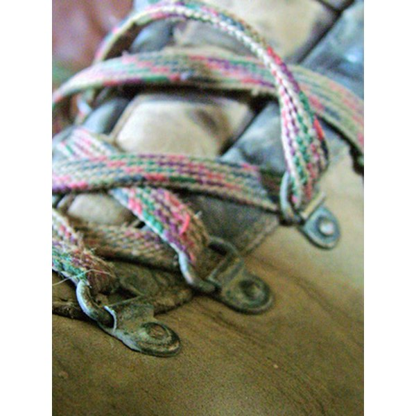 Shoe laces commonly experience wear over time and may ned to be replaced and re-laced.