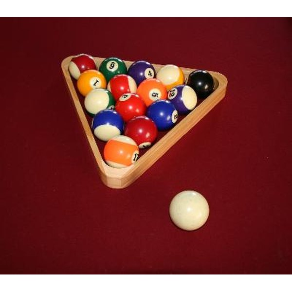 Pool games generally use billiard balls numbered one through 15.