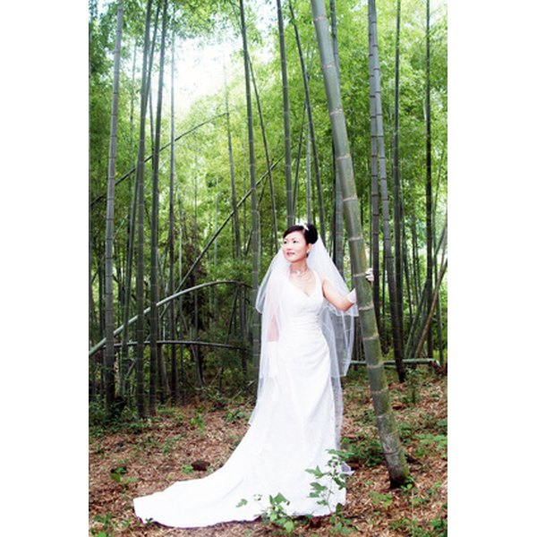 Chinese brides traditionally have three different dresses for the day, including a white gown.