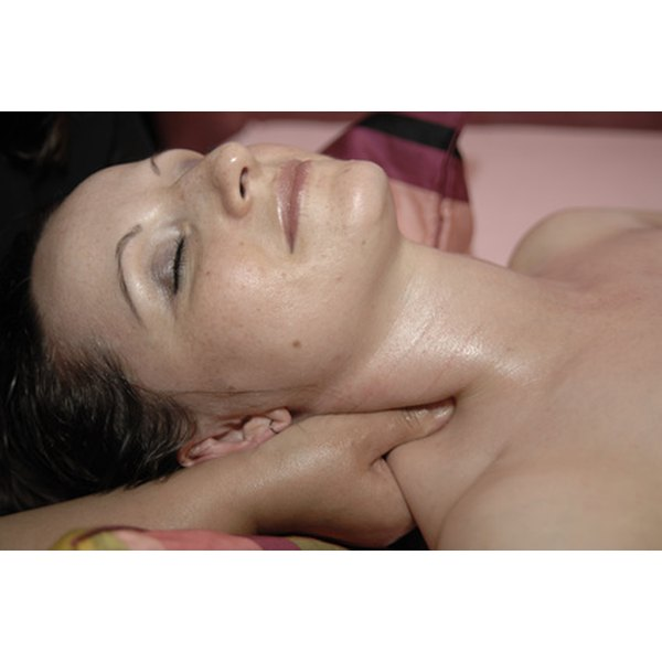 Deep tissue massage decreases neck pain.