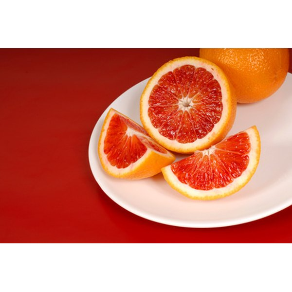 Blood oranges are grown in Spain and are often used to make sangria.