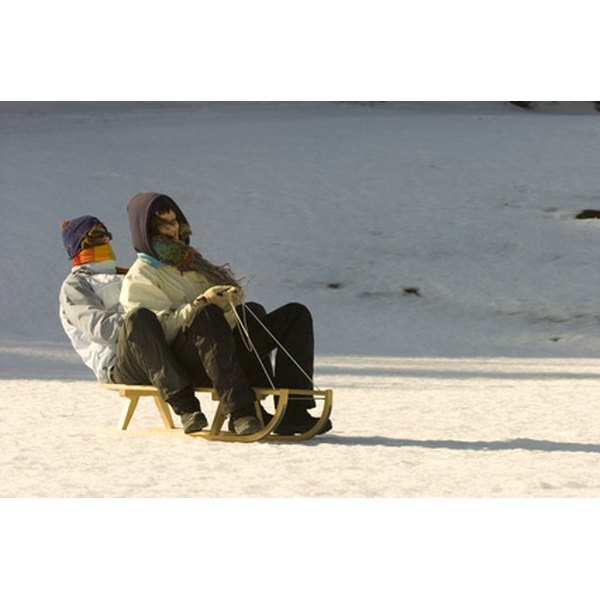 Kids and adults can enjoy a sledding party together.