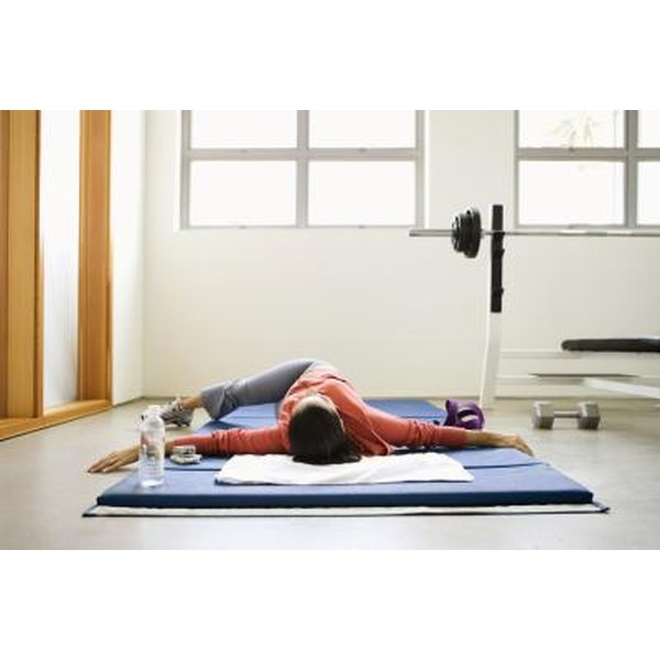 Hip rotation stretch helps improve flexibility in the lower back.