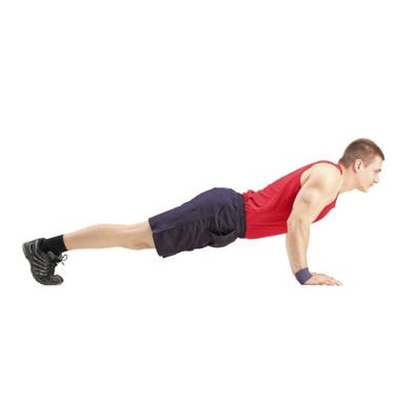 Pushups place demands on your core, shoulder and arm muscles.